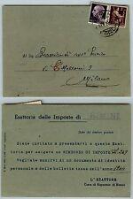 RE DI MAGGIO-1L(540)+2L(552)-Cartolina esattoriale Rimini->Milano 12.6.1946