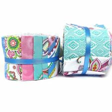 Punch Of Paisley - Jelly Roll 20 Piece - Paisley Fabric Designs In Blues & Pinks