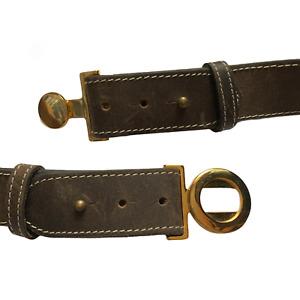 Ladies Vintage Leather Belt Grey UK 20 Size 95 cm 38 inches K5
