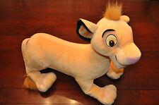 """Disney Lion King Simba 2002 Hasbro 22""""X 18"""" Stuff Plush Free Shipping"""