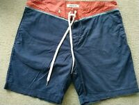 Quicksilver Casual Cotton Boardshorts Shorts Sz 38 Blue Maroon