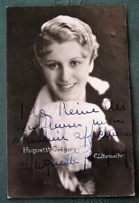 French Singer Huguette Grégory - 1930s RPPC signed