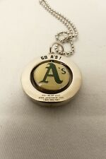 Oakland A's team logo neck pendant with chain