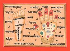God Vishnu Footprint  Hand  Tantrik Tantric PAINTING Hindu Handmade Art INDIA