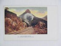 Vintage Postcard Peter's Dome Colorado Springs Cripple Creek Short Line Train