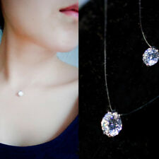 Hot Crystal Necklace Invisible Line Zircon Clavicle Chain Women's Accessories
