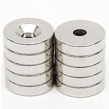 10 tlg Starke Magnete N52 NdFeB Neodym-Permanentmagnet 20mm x 5mm Loch 5mm