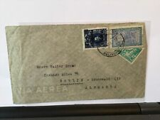 Bolivia 1950 overprint  bisect stamp to Berlin stamps cover  Ref R28139