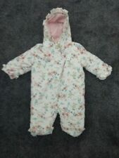 baby girls toddler Bambino Piccalo snow suit coat6- 9mths excellent condition b3