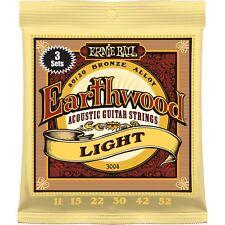 Ernie Ball confezione da 3 / SET 3004 Earthwood Luce di corde chitarra acustica