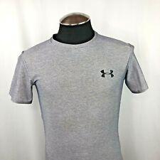 Under Amour Men's Short Sleeve T-Shirt Top Steel Light Gray Size Medium Md