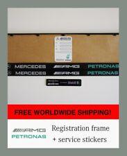 2 X Mercedes AMG Registration frames+2 Stickers AMG Petronas F1 Surrounds Holder