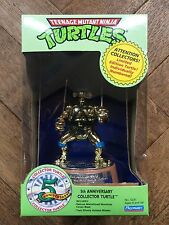 Vintage TEENAGE MUTANT NINJA TURTLES: 5TH ANNIVERSARY GOLD LEONARDO 1992 MIB