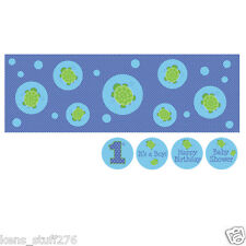 "Mr. Turtle Giant Party Banner, Wall Mural, Birthday or Baby Shower 60"" x 20"""
