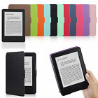 SOTTILE TESTURIZZATO CUSTODIA COVER PELLE PU PER KINDLE CON TOUCH 8th Gen. 2016