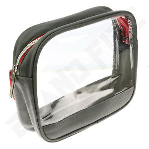 Clear Transparent Compact Wash Bag  Toiletry Cosmetics  Case Travel Pouch Makeup