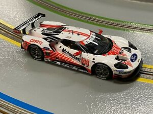 1/32 Carrera Ford GT GTE Motorcraft No.66 White and Red ANALOG Slot Car