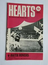 More details for hearts v raith rovers 1979/80 first division february postponed