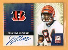 2010 Elite Jermaine Gresham Autograph Rookie #18 Cincinnati Bengals