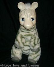 VINTAGE 1994 ED KAPLAN ZOO BORNS BABY ZEBRA BLACK WHITE STUFFED ANIMAL PLUSH TOY