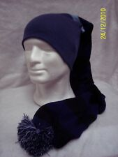 Cappello Tubolare/Hat Tube Maxi Righe Larghe BLEU 100% Lana