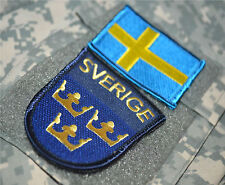 AFG-PAK JSOC NATO ALLIED COALITION OPERATOR hook/loop 2-FLAG: SVERIGE SWEDEN 瑞典