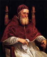 "Excellent Oi painting Tiziano Vecellio - Portrait of Pope Julius II seated 36"""