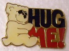 Hat Lapel Pin Scarf Clasp Animal Teddy Bear Hug Me NEW