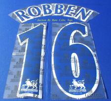 Lextra 97-06 Chelsea Arjen ' Robben 16 ' EPL Player Issue Shirt Name Number Set