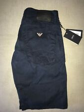 "AJ Armani Men's Chino Shorts J45 BNWT New Navy Blue 34"" Waist Regular Leg"