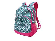 Pink and Turquoise Backpack book bag