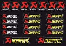 Akrapovic Decals Stickers for Exhaust Graphic Factory Set Vinyl Adhesive 4 Pcs