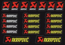 Akrapovic Decals Stickers for Exhaust Graphic Factory Set Vinyl Adhesive 21 Pcs