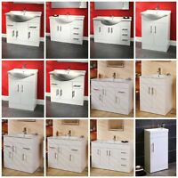 Modern Bathroom Furniture Vanity Unit Storage Cabinet Cupboard Basin Sink