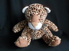 FAO Schwartz Baby Cheetah Leopard Plush Stuffed Rattle Animal Toy 8""