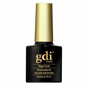 """UK Seller GDI Nails """"NO WIPE Top Coat"""" UV/LED SOAK OFF GEL NAIL POLISH VARNISH"""