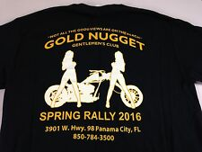 Gold Nugget T-Shirt Panama City Beach Florida Mens Medium Strip Club Biker Ride