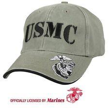 USMC Ball Cap US Marine Corps Korea Vietnam OEF OIF Vet Gulf War OD Green Hat