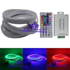 5050 80LED/M RGB Flex solf led neon rope strip light 12V+24A 44key RGB contoller