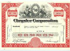 CHRYSLER CORP. 11/63 Stock Certificate-LYNN TOWNSEND Facsimile Signature-1 Share