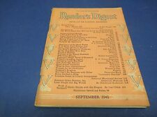 Reader's Digest, September 1941, America's Greatest Mistake,World or Nothing