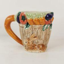Fitz and Floyd 1995 Omnibus Bunny Carrot Rabbit Cup Mug Ceramic Easter Spring