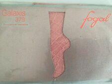 Mai indossati VINTAGE Fogal Galaxis 379 Calzini Alla Caviglia in pizzo rosa con motivo a fine