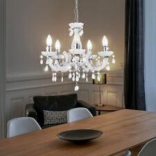 Decken Lampe Hänge Pendel Leuchte Strahler Luster Kronleuchter weiß Küchen Tisch