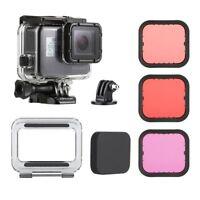 For GoPro Hero5 6 Black 45M Underwater Waterproof Housing Case + Dive Filter Kit