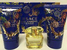 Versace YELLOW DIAMOND INTENSE 3PC MINI GIFTSET PERFUME + LOTION + S/GEL NEW