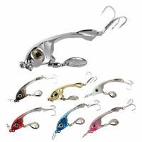 LUSHAZER fishing lures spoon vib lure metal baits hard fishing lure spinnerb u6o