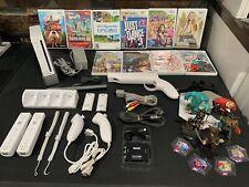 Nintendo Wii Console New Super Mario Bros. Bundle 2 Controllers + 10 Games HDMI