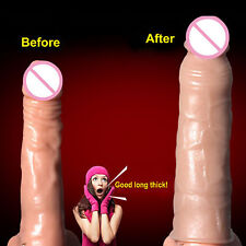 Realistic Thick Cock Penis Extender Girth Enhance Condom 8 inch 20cm Extension