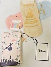 Primark Mary Poppins Card Holder Coin Purse Zipper Wallet+3 Sneaker Ankle Socks